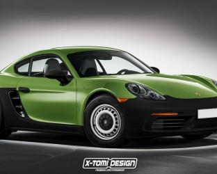 """Porsche """"pro chudé"""" bude. Máme první fotky Porsche Cayman Kernpunkt"""